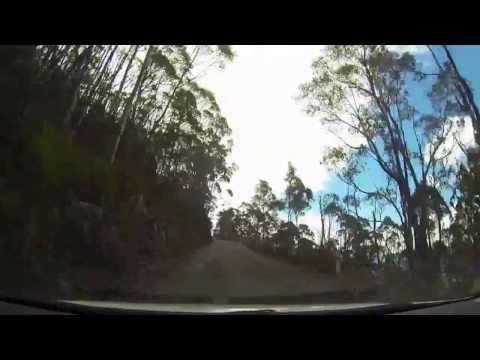 Driving up Tasmania's Mt.Wellington