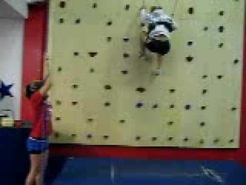 Climbing the Rock Wall w/ Ivy--Cheer Florida