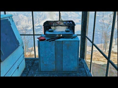 How to Build a Smoking BBQ Grill 🥩 Fallout 4 No Mods Shop Class