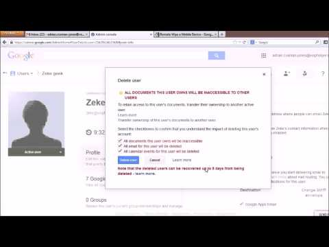 How to remove a user in Google Apps part 2