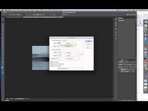 Photoshop CS6: Resizing and image and canvas