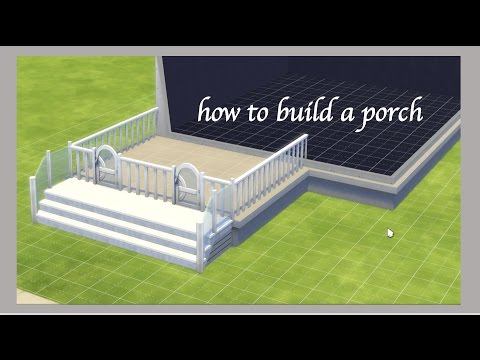 HOW TO: build a porch on Sims 4