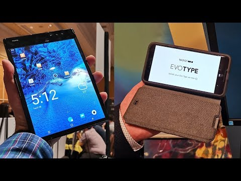 Hands On With The Flexpai Folding Display Phone & The EVOTYPE NFC Keyboard Case At Pepcom CES 2019