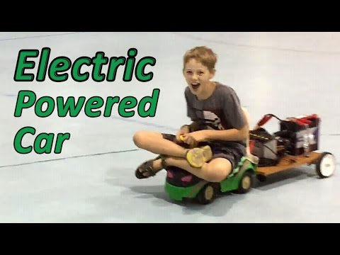 Electric Powered Car!  -  Science Fair Project for Kids with Ethan