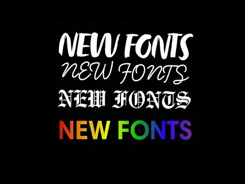 NEW SNAPCHAT FONTS UPDATE! 2018