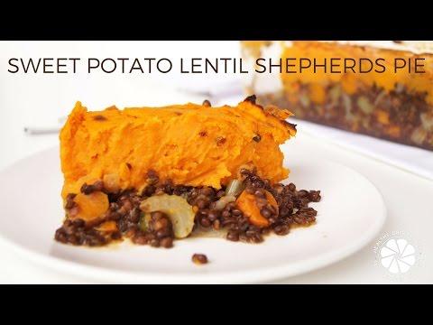 Sweet Potato Lentil Shepherds Pie | Easy Healthy Dinner Ideas | Healthy Grocery Girl