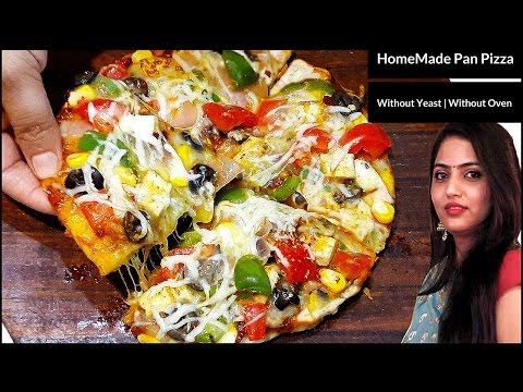 Pizza Recipe|Without Yeast|Without Oven|Pizza On Tawa|Homemade Pizza By Manisha