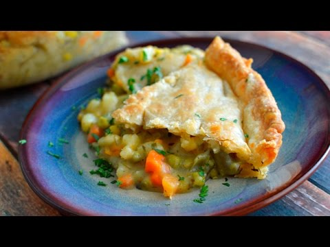 Vegan Veggie Pot Pie w/ Store Bought Crust - Easy!