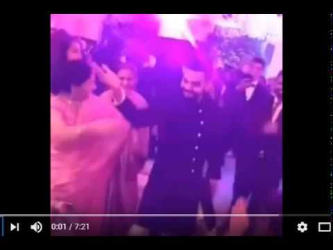 Virat Kohli Anushka Sharma's CUTE Dancing Video At Their Wedding Reception 2017 In Delhi