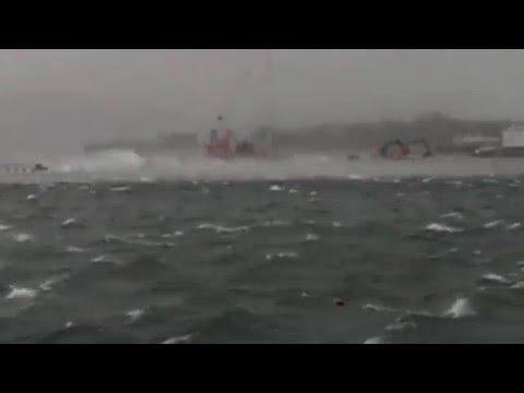 Storm Gertrude, Lerwick, Shetland