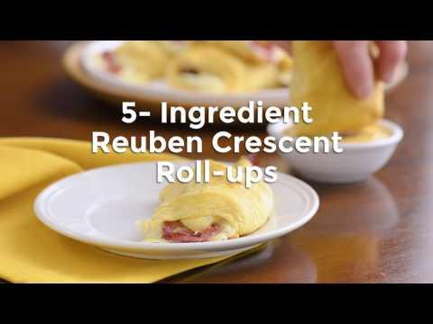 Reuben Crescent Roll Ups