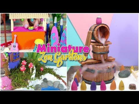DIY Miniature zen Garden compilation - Miniature beach - Fairy Garden - back flow font - Isa's World