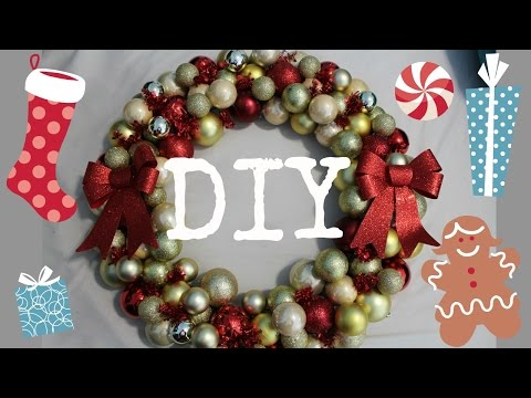 DIY ORNAMENT WREATH | Very Cheap and Easy to Make