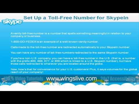 Setup a toll free number using Skype | Wingslive