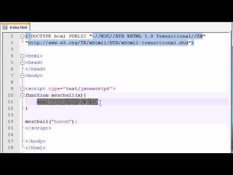 Beginner JavaScript Tutorial - 7 - Using Parameters with Functions