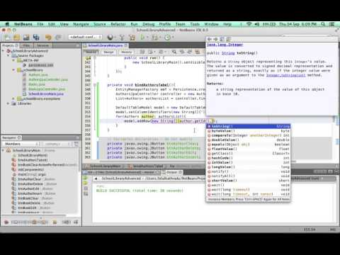 Advanced Database SWING application with Netbeans 8 of 17