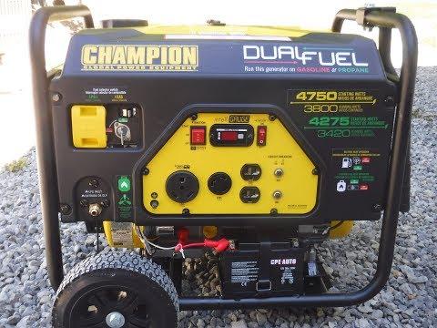 Champion generator Dual Fuel Propane/Gasoline