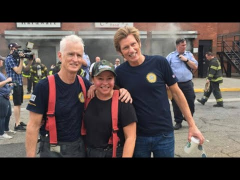 Rachael Steps Into Live Fire to Help Friend Denis Leary Raise Money for Fire Departments at 2nd F…