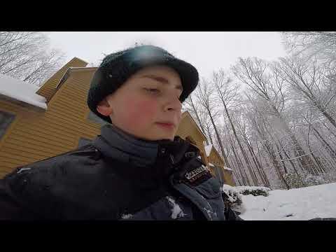 Gaint snow ball down a gaint hill!!