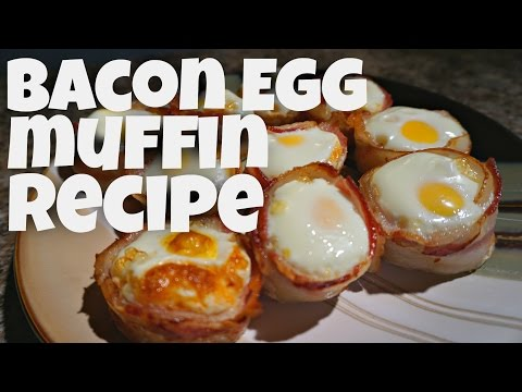 Bacon & Egg Muffins - ketogenic - recipes - quick and easy breakfast ideas - keto diet