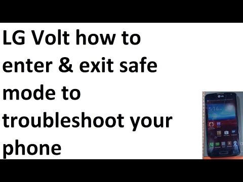 LG Volt how to enter exit safe mode safemode for troubleshooting your phone