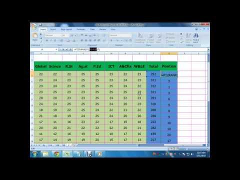 ms excel 2007 tutorial bangla rank position function part 6 ataur smsc  titled