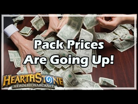 [Hearthstone] Pack Prices Are Going Up!