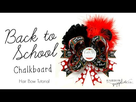 Back to School Chalkboard Hair Bow Tutorial - Hairbow Supplies, Etc.
