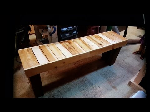 How To build a Pallet Wood Bench-inspired by DIY CREATORS .
