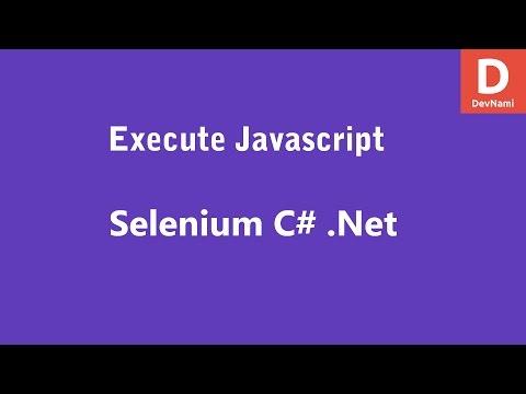 Selenium C# Execute Javascript