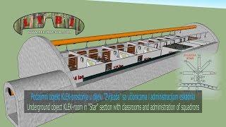 """Podzemni objekt KLEK-prostorija u dijelu """"Zvijezda"""" sa učionicama i administracijom eskadrila"""