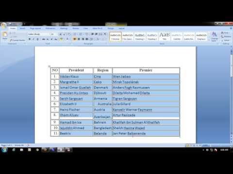 how to sort the names alphabetically in microsoft word