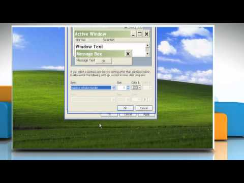 Windows® XP: How to change the screen appearance?