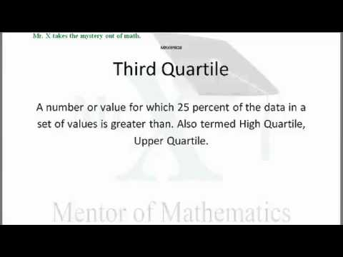Glossary-Third Quartile