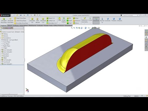 How to make custom forming tool (Louvers) in Solidworks