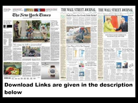 Newspapers 3rd May 2017: New York Times, Wall Street Journal (Europe & Asia)