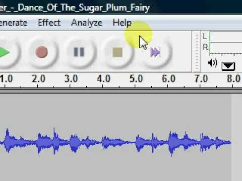 Audacity making a loop and then change the tempo and pitch