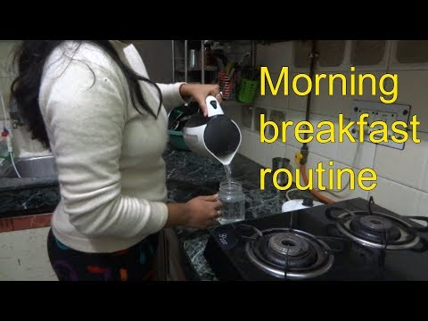 My morning routine(breakfast + lunch).Indian mom morning routine2018.housewife  morning routine.