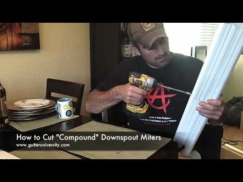 How to miter downspouts