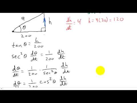 Calculus Related Rates Example 4