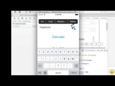 [Silent]Building a BMI Calculator app within 9 min (Developing iOS7 Apps with Xcode5)