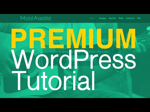 How to Make a PREMIUM Website with WordPress - Complete Tutorial