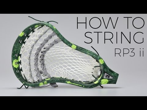 RP3 ii  |  How to String a Custom Lacrosse Pocket