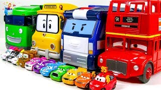 Learning Color Big size and small size Disney Cars Lightning McQueen  play funny video for kids