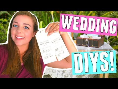 WEDDING DIY PROJECTS! DIY WEDDING SIGNS, DECORATIONS + SEATING CHART!