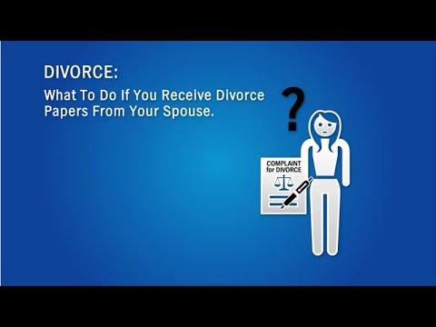 Divorce, Responding to a Divorce Complaint