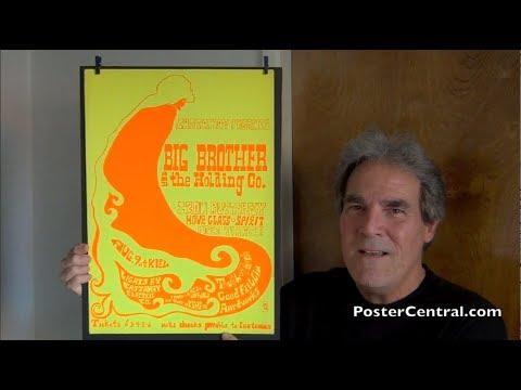 Janis Joplin Concert Poster 1968 w/Allman Brothers, Iron Butterfly & Spirit