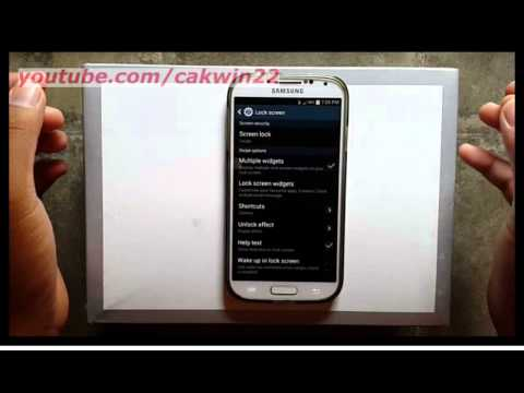 Samsung Galaxy S4 : How to add lock screen shortcut (Android Kitkat)