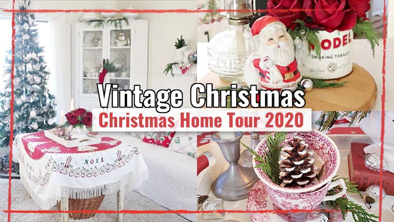 Christmas Home Tour 2020   Vintage Cottage Christmas Decor   Christmas 2020