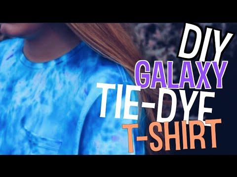 DIY GALAXY TIE-DYE T-SHIRT!!